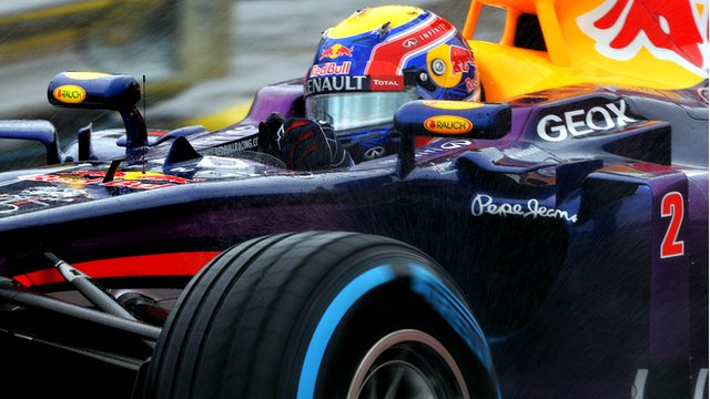 Australia's Mark Webber takes place in his final Grand Prix before retiring from Formula 1