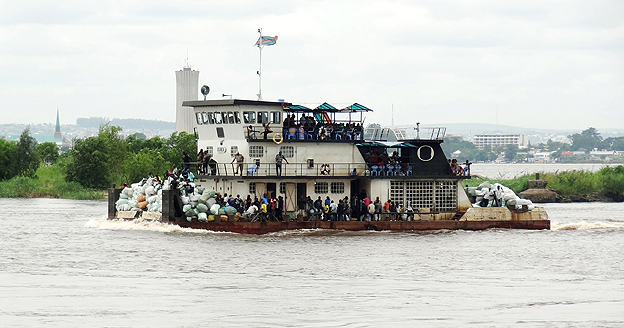 Ferry on the Congo River