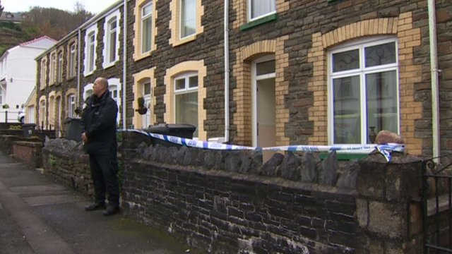 Fire fighters were called to the fire at a terraced house near the town centre at 08:00 GMT on Sunday