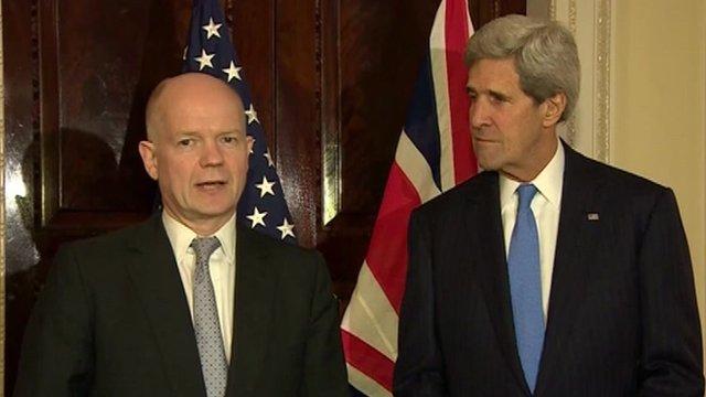 William Hague and John Kerry