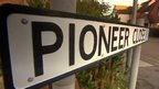 Pioneer Close road sign