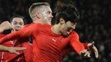Cardiff celebrate against Man Utd