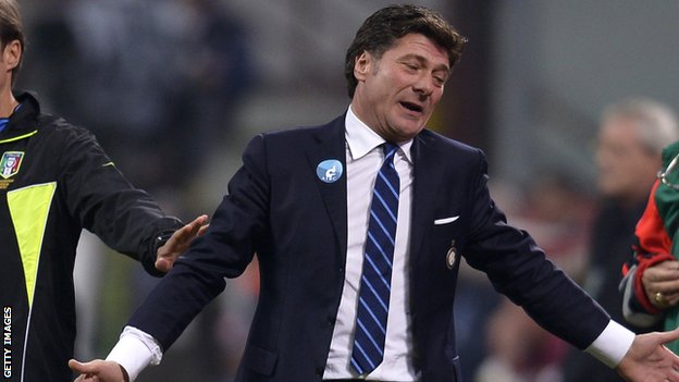 Inter Milan manager Walter Mazzarri