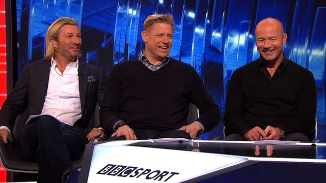 Robbie Savage, Peter Schmeichel and Alan Shearer