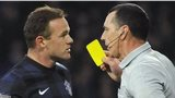 Wayne Rooney gets booked