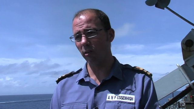 Cdr Angus Essenhigh from HMS Daring