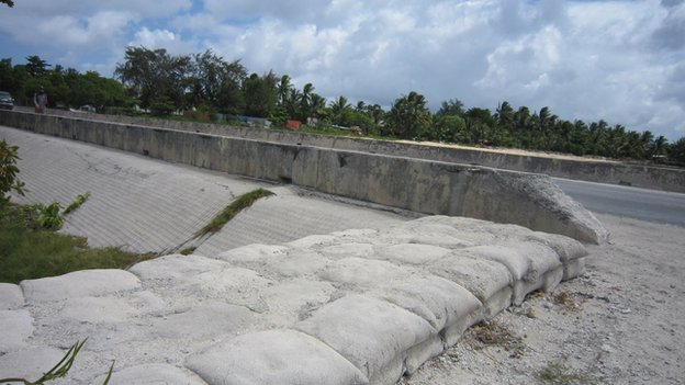 Concrete sea walls designed to protect the coastline can make erosion worse