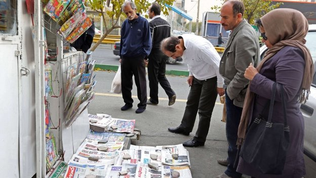 newspapers in Tehran (25 Nov)