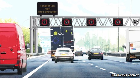 An artists' impression of a 'smart motorway'
