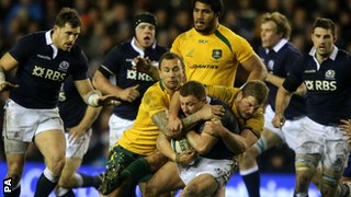 Scotland lost to Australia at Murrayfield
