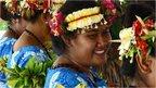 Tuvalan traditional dancers