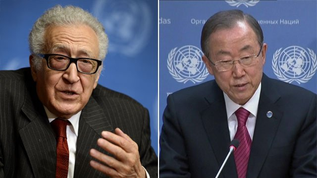 Lakhdar Brahimi and Ban Ki-Moon