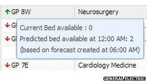 General Electric autobed screen shot