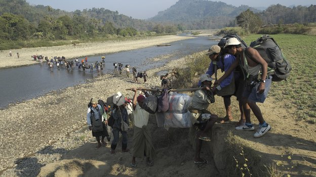 One hundred locals joined the expedition to help carry two tonnes of equipment to base camp