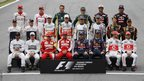 Formula One drivers pose for a group picture ahead of the Brazilian F1 Grand Prix