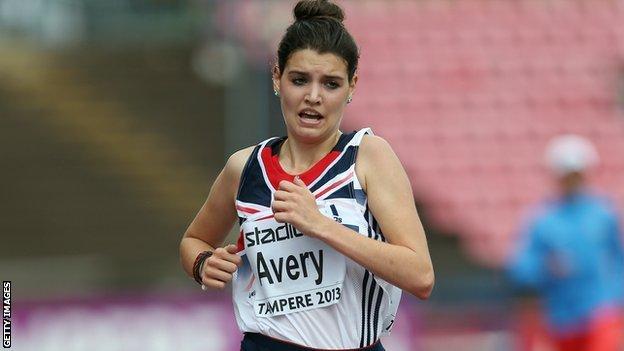 Great Britain runner Kate Avery