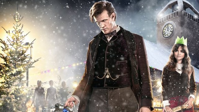 Scene from Dr Who Christmas special with Matt Smith