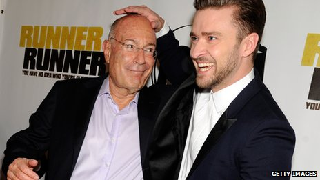 Arnon Milchan, shown here with Justin Timberlake