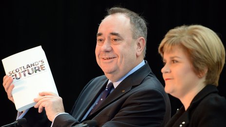 Alex Salmond and Nicola Sturgeon with the White Paper