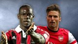 Mario Balotelli and Olivier Giroud