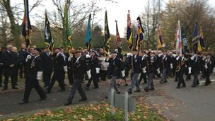 Funeral of war veteran Frederick Leach