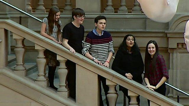 Five teenagers
