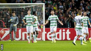 A dejected Celtic side realise their 2013-14 European journey is over
