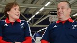 Aileen Neilson and Gregor Ewan of GB wheelchair curling team
