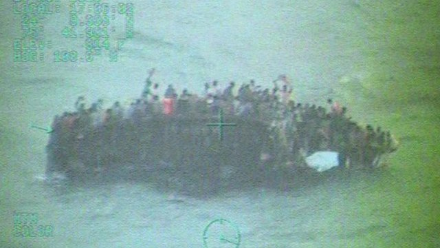 Migrants on vessel