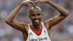 Mo Farah doing the MoBot