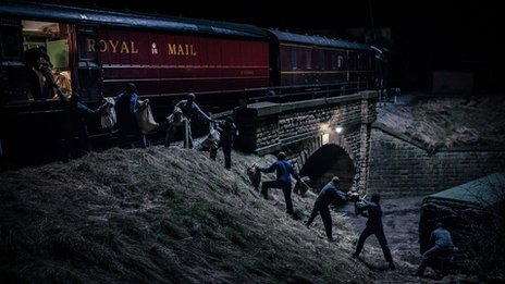 A scene from The Great Train Robbery