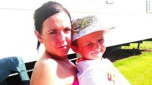 Josie Leighton with her son Tyler Green