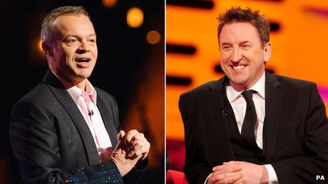 Graham Norton and Lee Mack