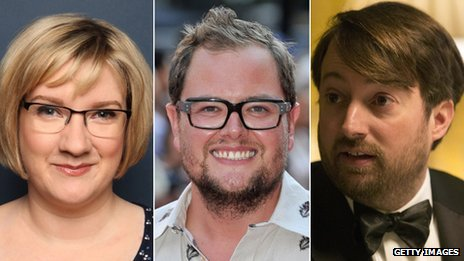 Sarah Millican, Alan Carr and David Mitchell