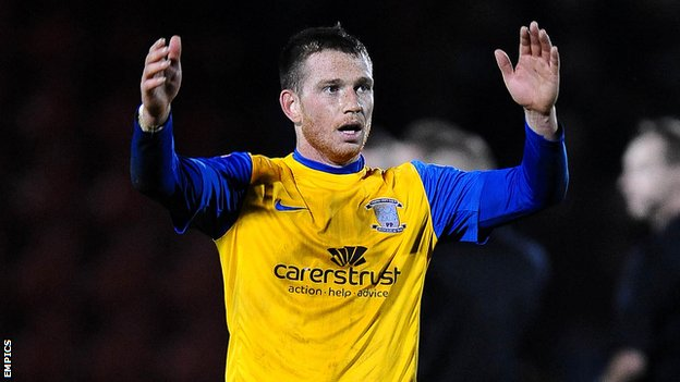 Preston striker Joe Garner