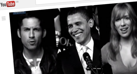 Screengrab from Obama video