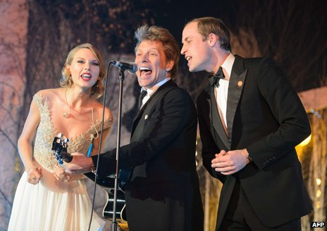 Taylor Swift, Jon Bon Jovi and Prince William