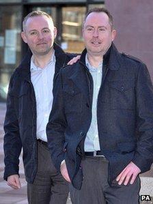 Steven Preddy (l) and Martyn Hall
