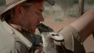 Chris Barns and one of his joeys