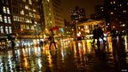 Heavy rain in New York on 26 November 2013