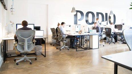 The Podio office near Copenhagen