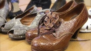 Roger Fearnside's crocodile shoe collection