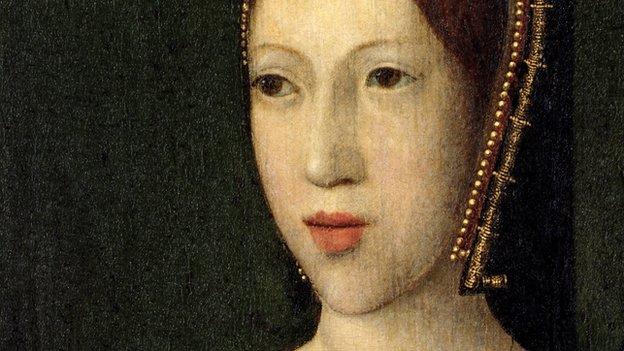 A portrait of Margaret Tudor
