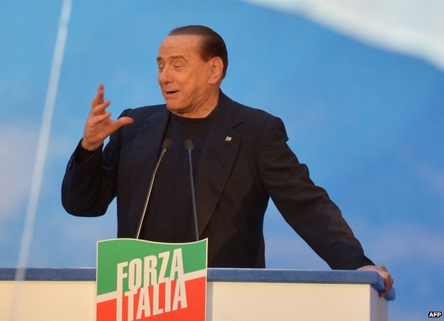 Silvio Berlusconi addressing supporters in Rome, 27 November