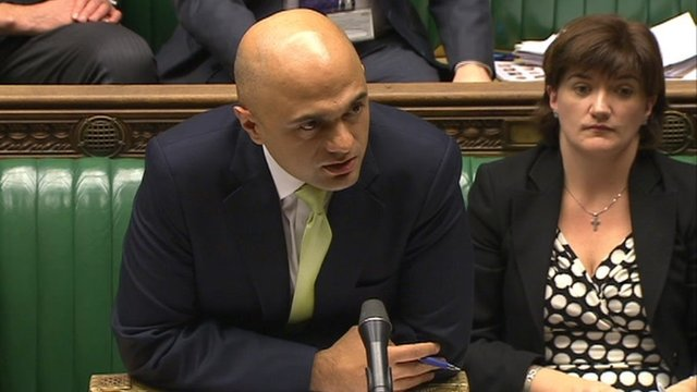 Financial Secretary to the Treasury Sajid Javid