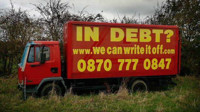 Debt Van Advert