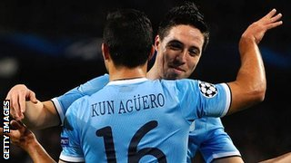 Kun Aguero and Samir Nasri