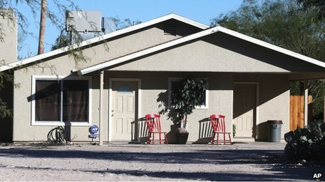 The home where three girls were allegedly imprisoned by their mother and stepfather, in Tucson, Arizona