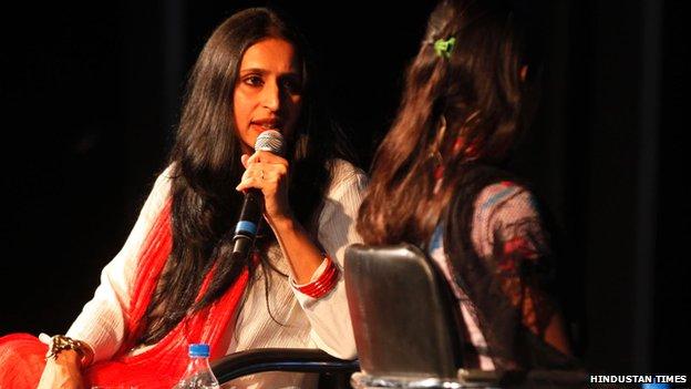Shoma Chowdhury at Tehelka Thinkfest