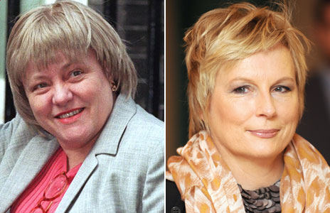 Mo Mowlam and Jennifer Saunders